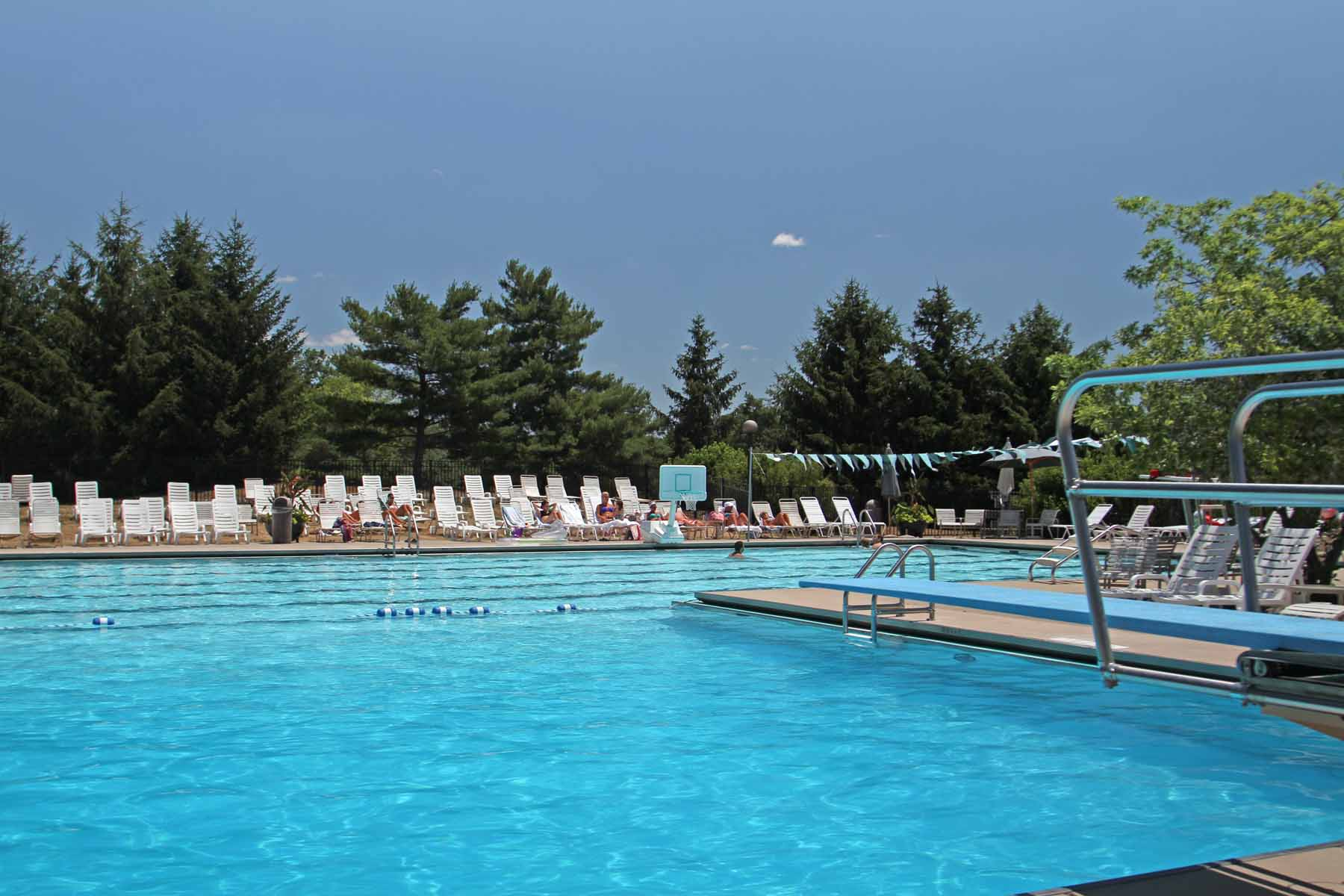 spacious pool in new albany country club ohio