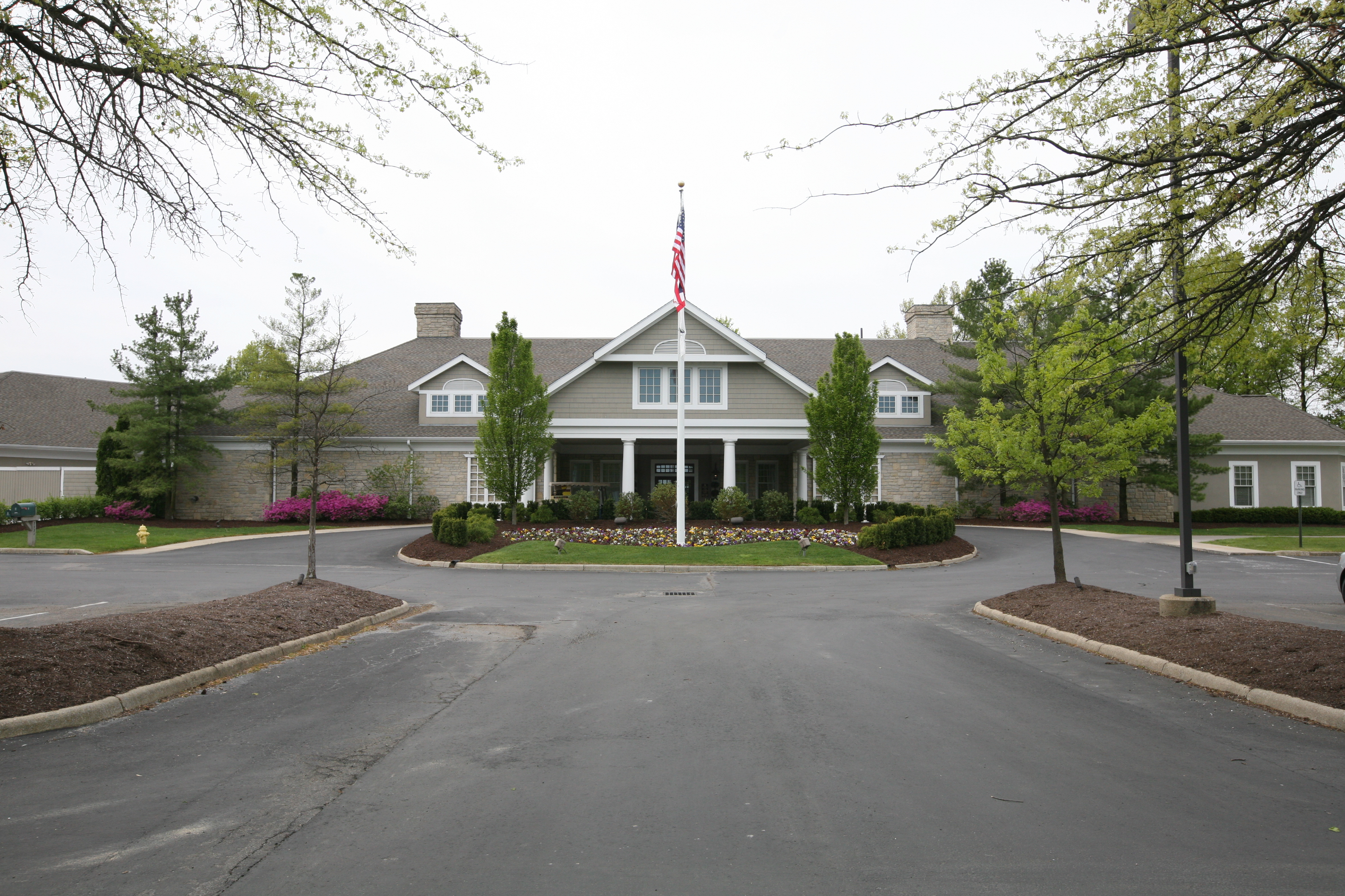 stone suburban house at the jefferson country club