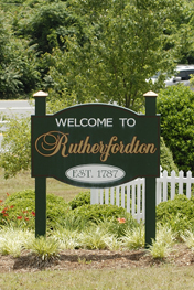 Rutherfordton sign