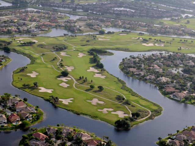 Heron Bay Golf Course Aerial