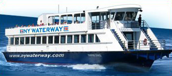 NY Waterway ferry in transit to Port Liberte
