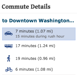 u street and cardozo short commute details to downtown washington dc