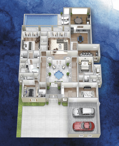 3D rendering of The Isabella floor plan