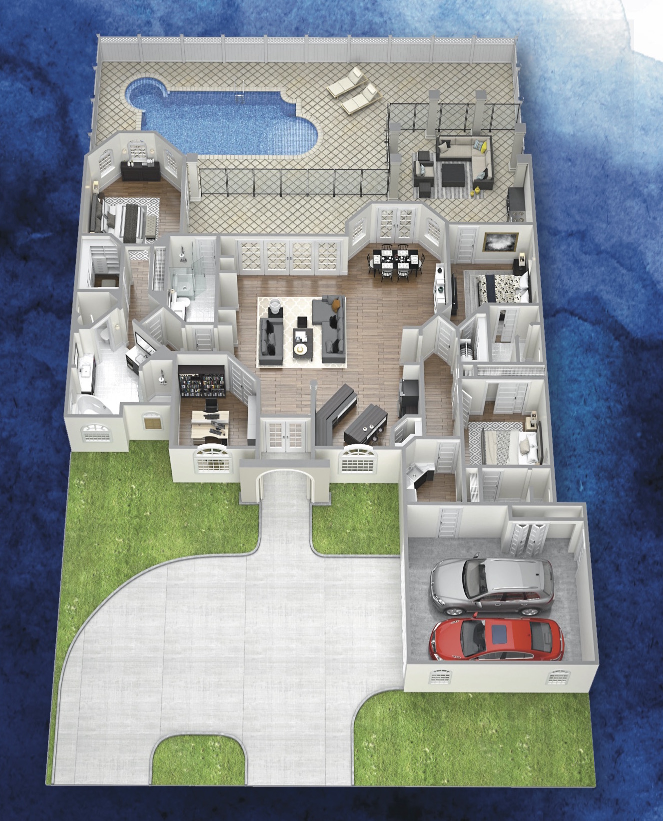 the santa barbara 3D floor plan image