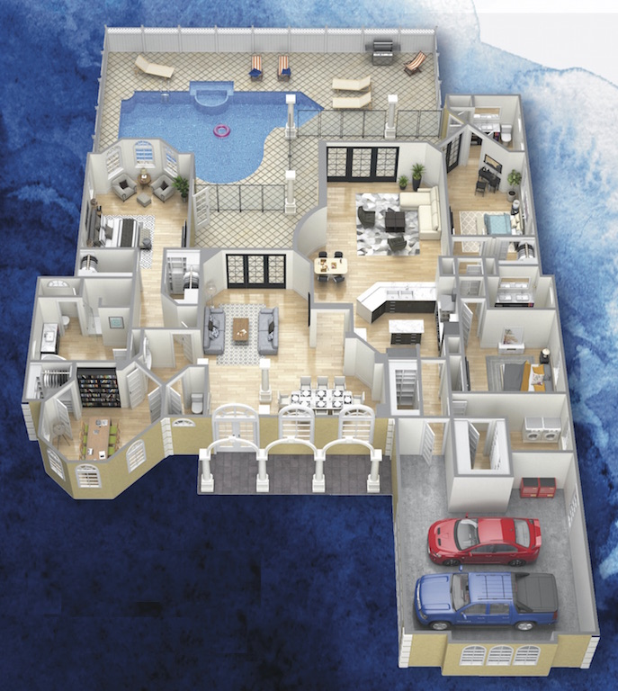 3D model of The Tobago Cay floor plan in Sawyer Sound